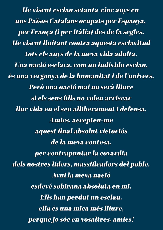 Testamento Xirinacs