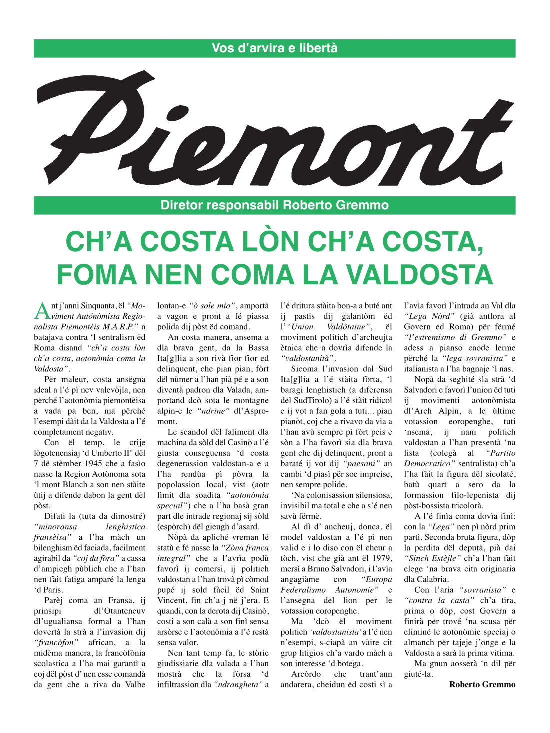 Giornale Piemont 40_20191