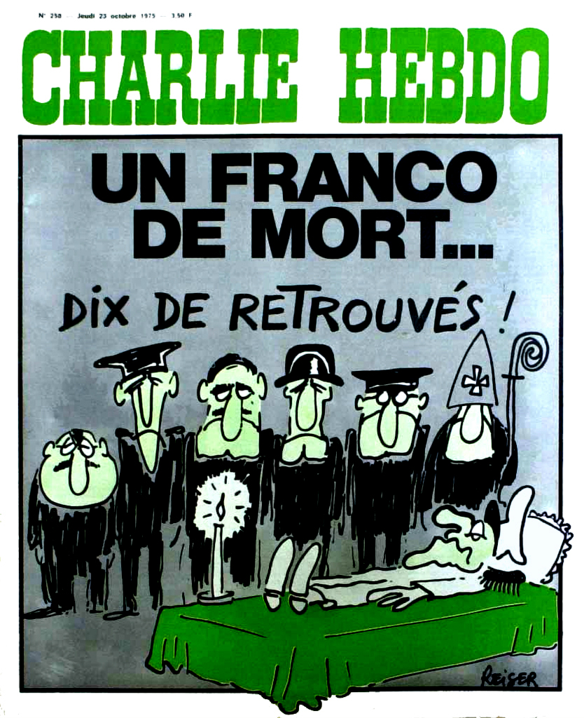 CharlieHebdo-MortFranco 1975 by Jean-Marc Reiser