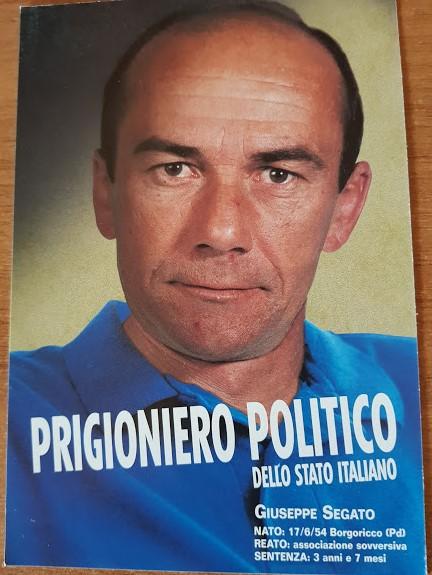 Segato prigioniero politico